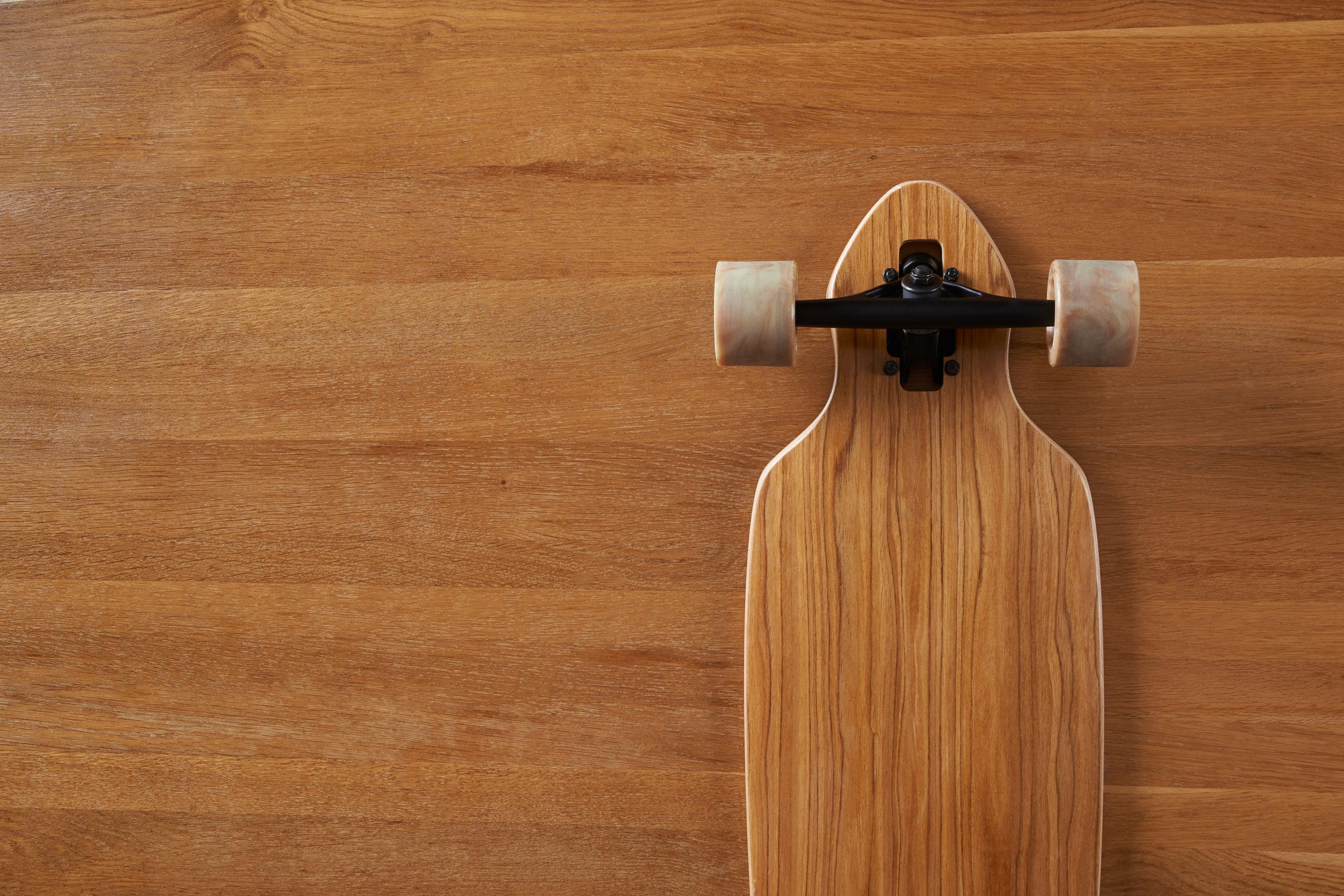 bottom of longboard